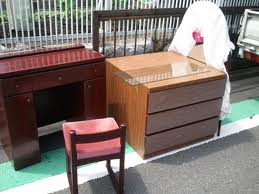 cupboards and other furniture collection for rubbish
